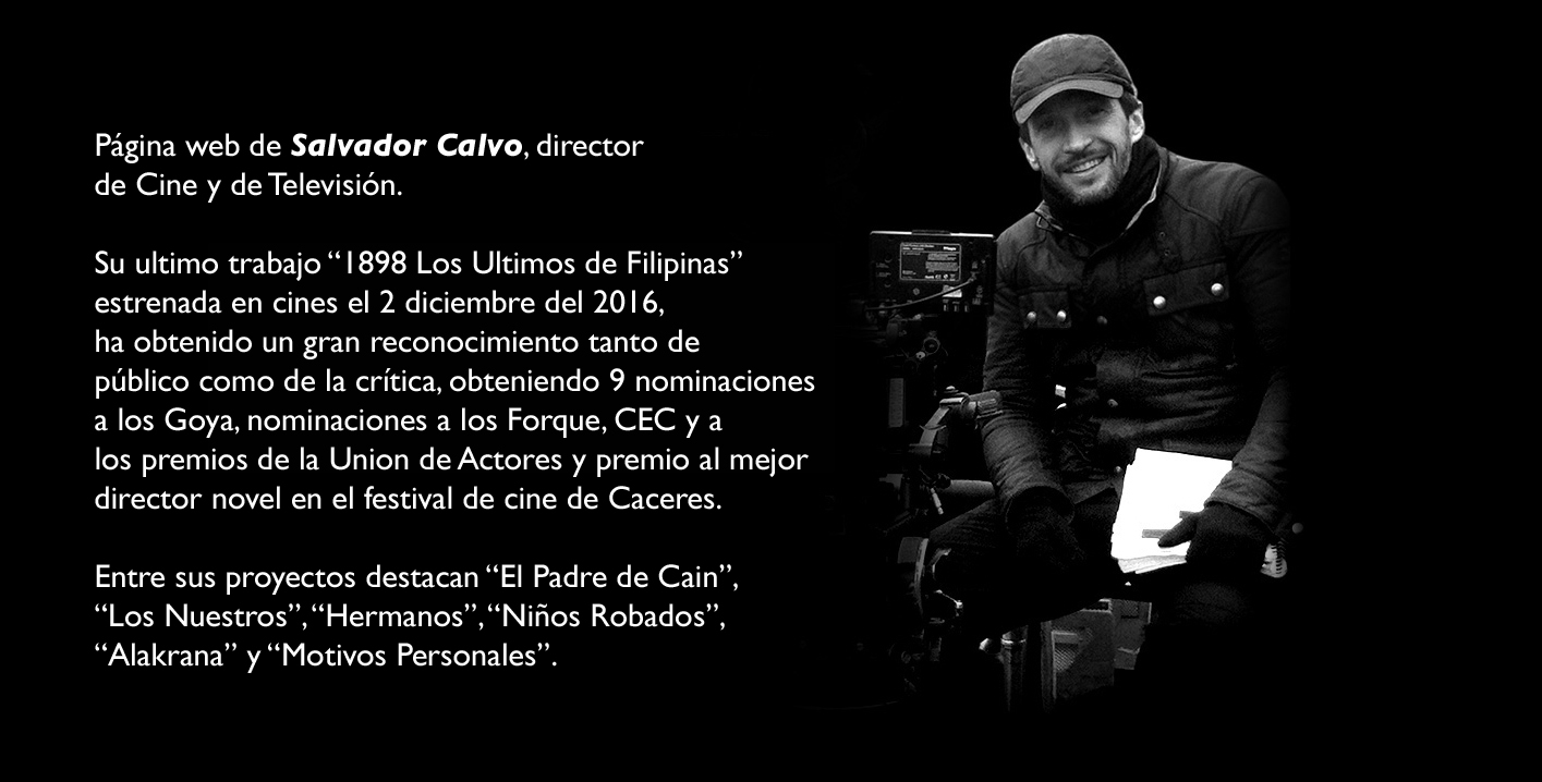 Salvador Calvo director de Cine