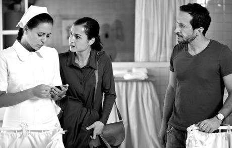 Salvador Calvo con Carmen Garay y Nadia de Santiago