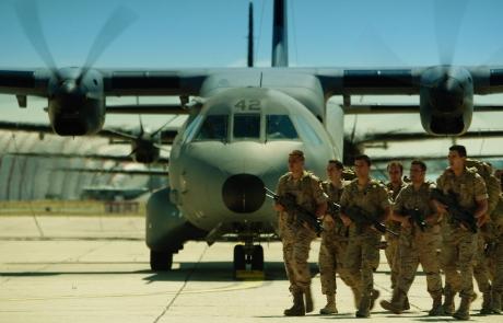 En la Base Aérea de Getafe