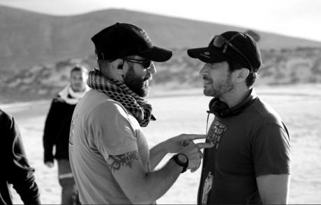 Salvador Calvo con su ayudante Borja Grandio