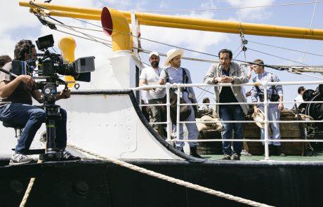 Salvador Calvo rodando en el Correito en el puerto de Santa Cruz de Tenerife