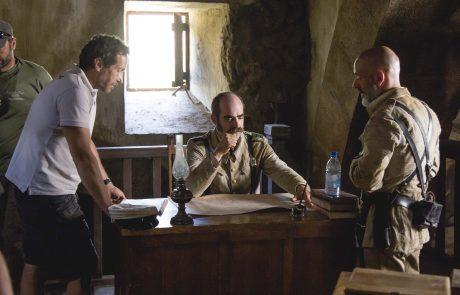 Salvador Calvo dirigiendo a Luis Tosar y Javier Gutiérrez