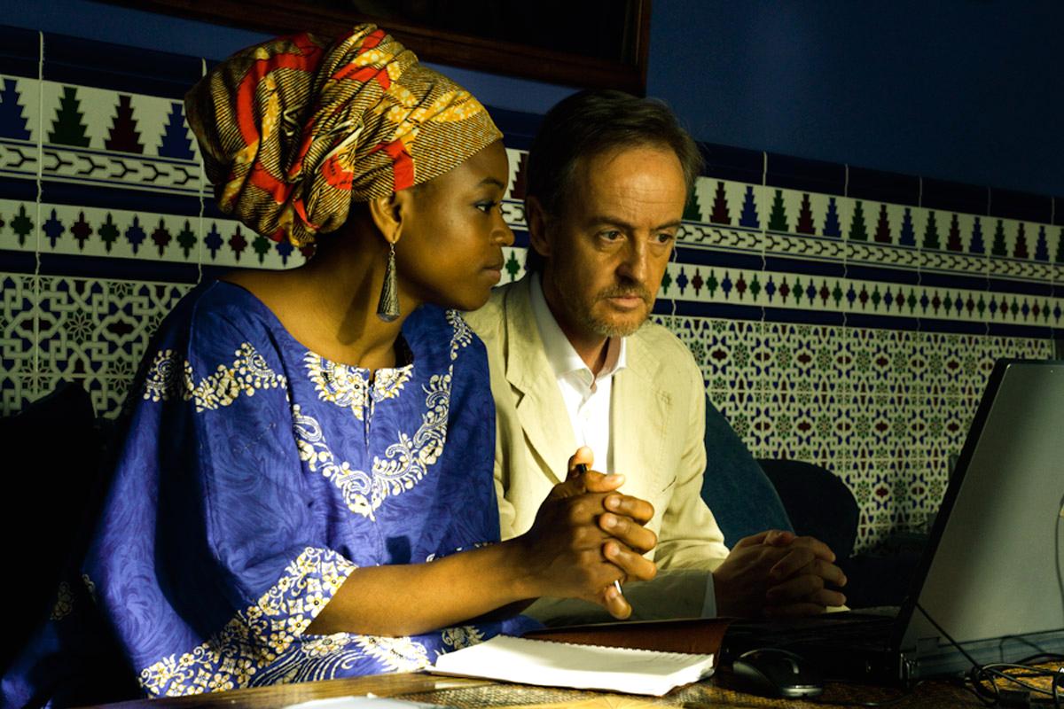 Carlos Hipólito y Bella Agossou