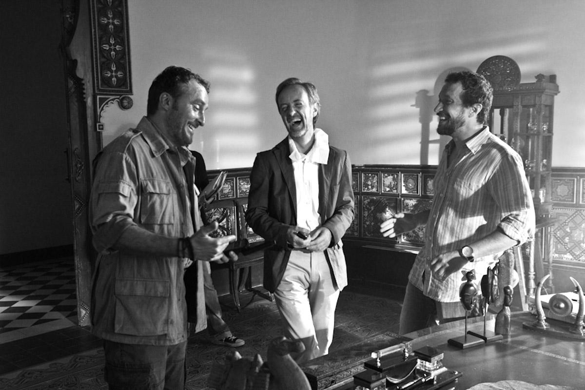 Risas el set, Carlos Hipólito, Fernando Cayo y Salvador Calvo