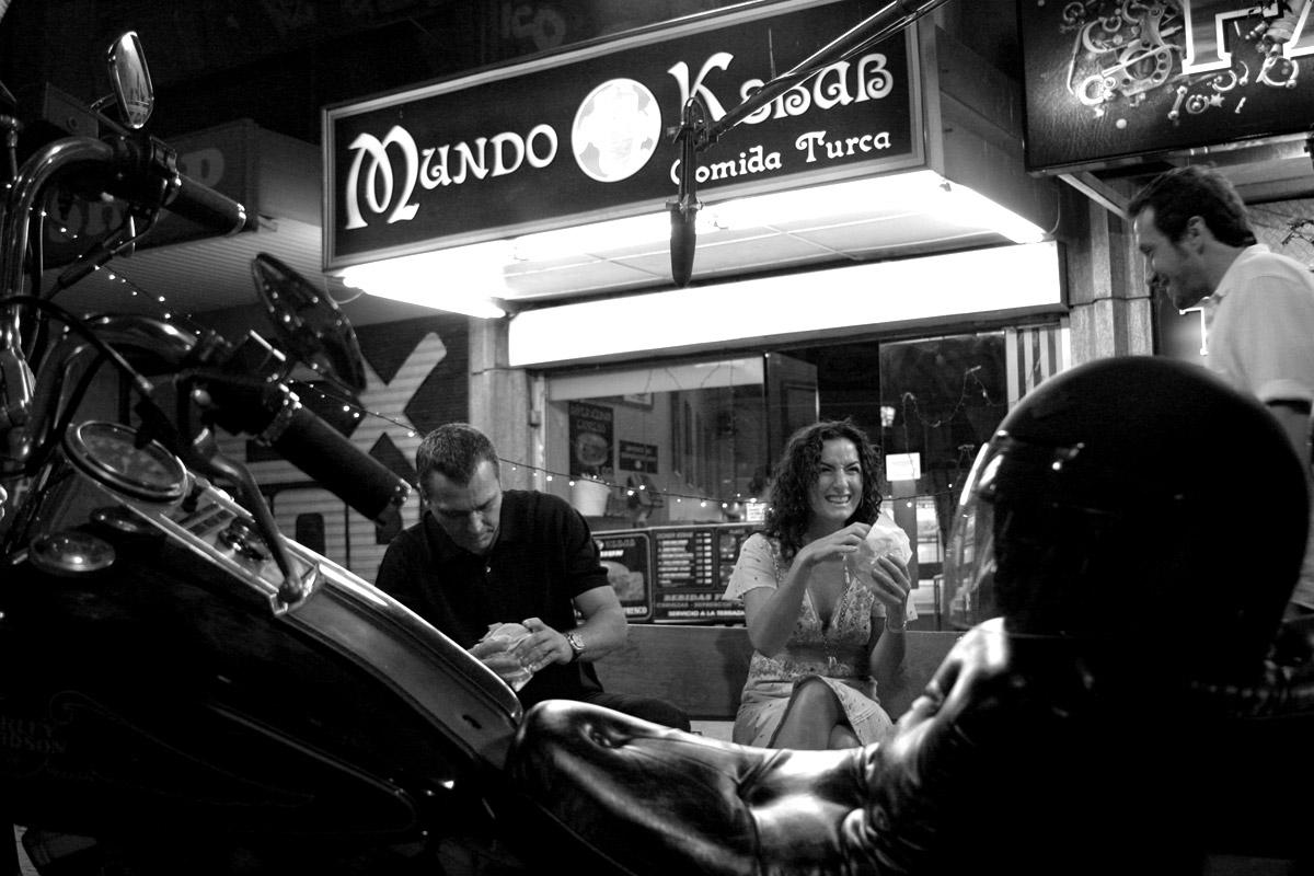 Rodaje en calle Montera, José Coronado, Belén López y Salvador Calvo