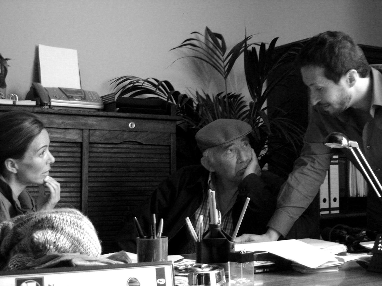 Salvador Calvo dirigiendo a Lydia Bosch y Fernando Guillén