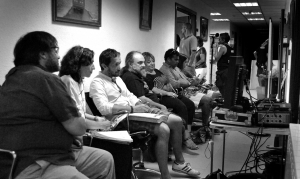 Tedy Villalba, Carmen Queipo. Salvador Calvo, Johny Yebra y Elena Cuevas