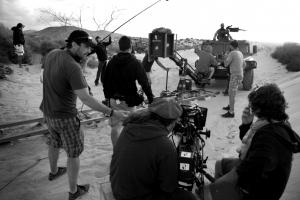 Rodando en las dunas con el equipo