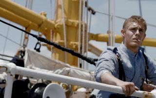 Patrick Criado en la cubierta del barco