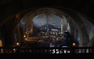 Interior de la Iglesia durante el asedio