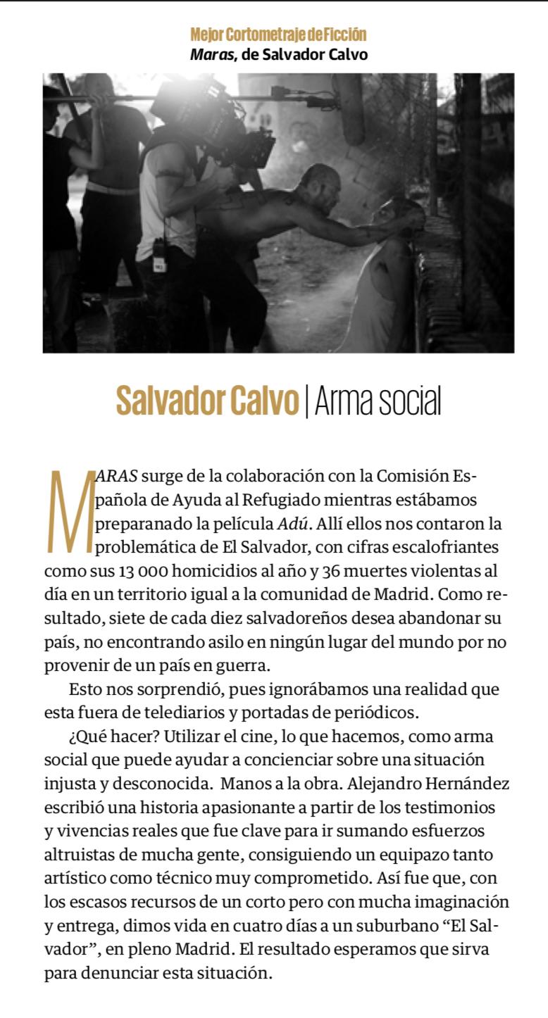 Maras, de Salvador Calvo
