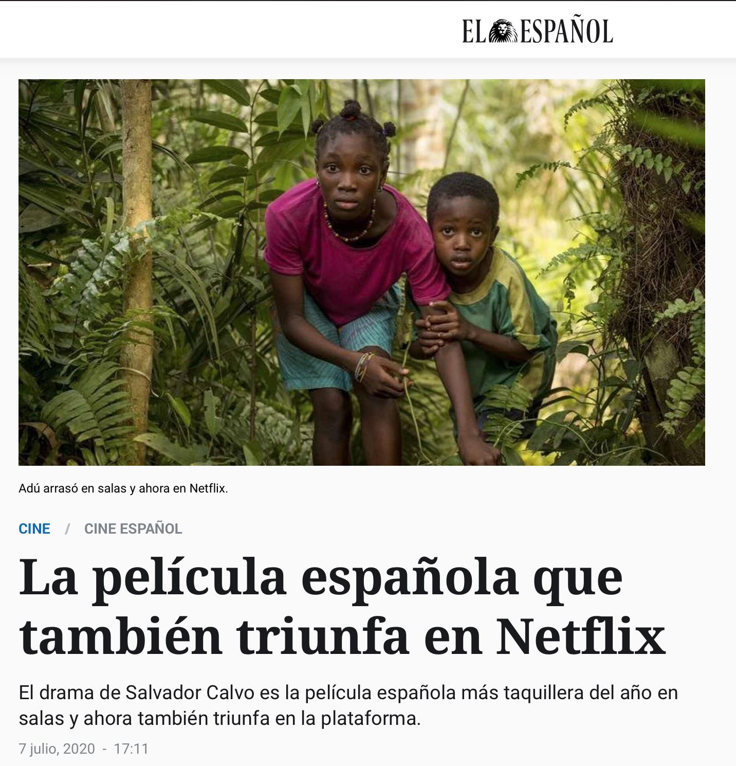 """""""Adú"""", la película española que también triunfa en Netflix"""