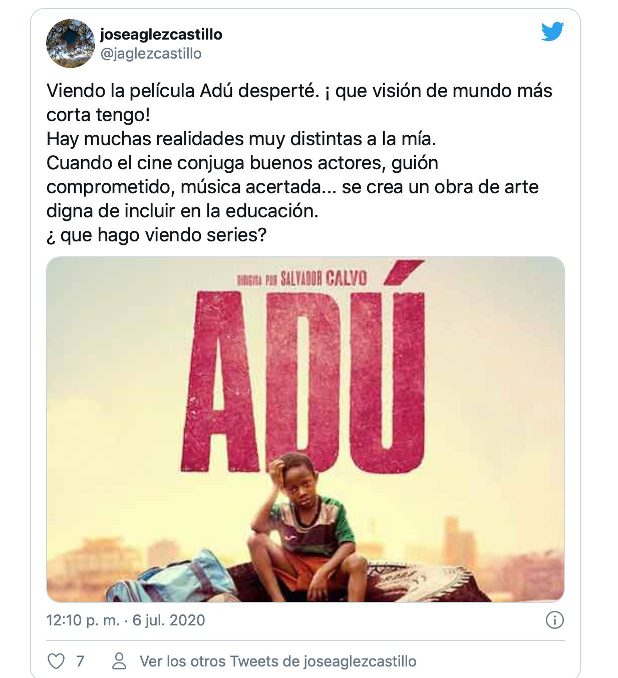 'Adú', la película que está emocionando a los usuarios de Netflix